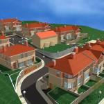 BR&C arquitectos Infografía edificio viviendas adosadas Llodio