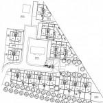 BR&C arquitectos Plano planta edificio viviendas adosadas Llodio