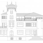 BR&C arquitectos Plano fachada edificio Neguri