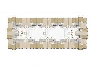 BR&C arquitectos Plano planta edificio viviendas colectivas Galdakao