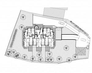 BR&C arquitectos Plano planta edificio de viviendas Getxo