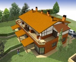 BR&C arquitectos Infografía edificio de viviendas Getxo
