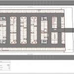 BR&C arquitectos Plano planta plaza aparcamiento Panamá