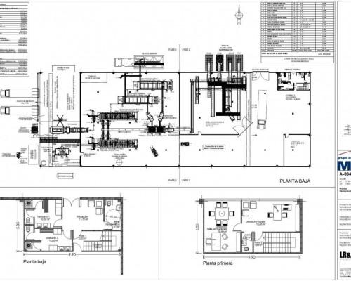 BR&C arquitectos Plano plantas nave industrial Teruel