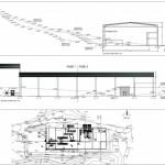 BR&C arquitectos Plano secciones nave industrial Teruel