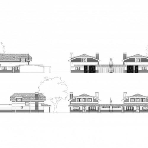 BR&C arquitectos Plano alzados viviendas unifamiliares Álava