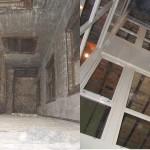 BR&C arquitectos Patio antes y después reforma edificio Bilbao