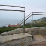 BR&C arquitectos Detalle barandilla cristal vivienda unifamiliar Sopelana