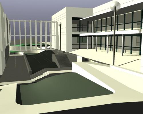 BR&C arquitectos Infografía instituto Vizcaya
