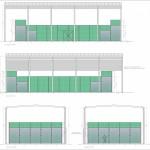 BR&C arquitectos Plano alzados pista padel Vizcaya