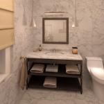 BR&C arquitectos Infografía baño vivienda Pamplona