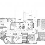 BR&C arquitectos Plano planta vivienda reformada Pamplona
