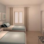 BR&C arquitectos Infografía habitación vivienda Pamplona
