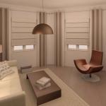 BR&C arquitectos Infografía sala de estar vivienda Pamplona