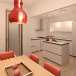 BR&C arquitectos Infografía cocina vivienda Pamplona